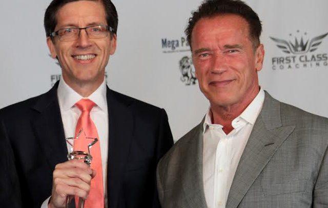 Craig Lack and Arnold Schwarzenegger